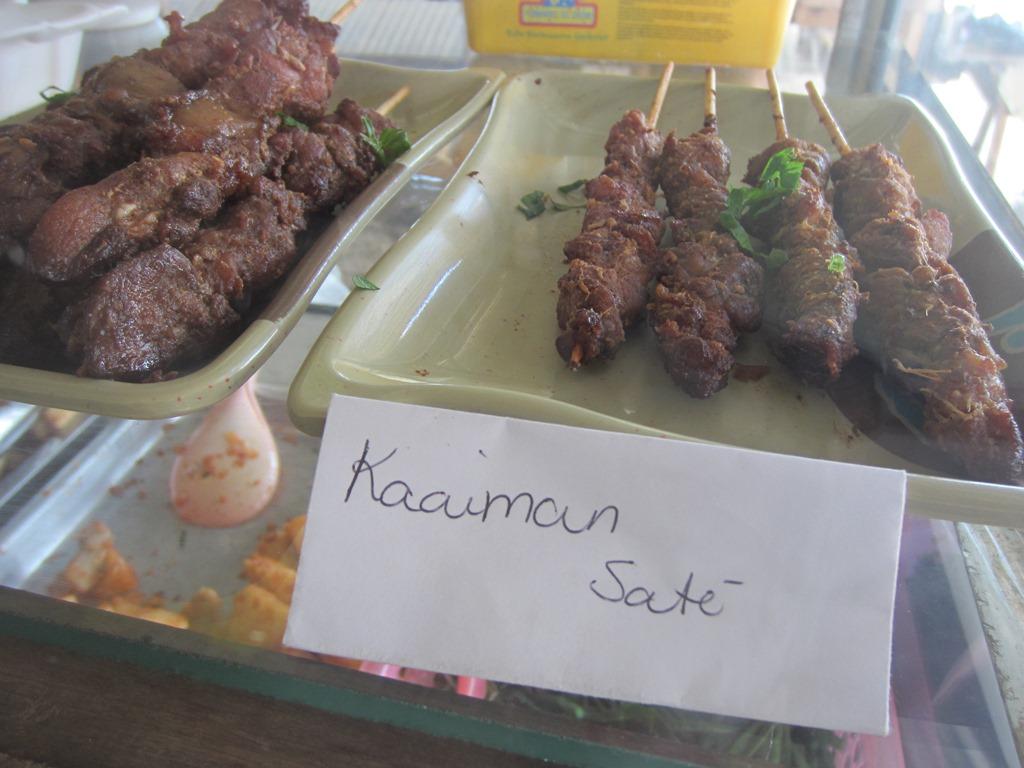Caiman Sate, Asian Market, Paramaribo, Suriname