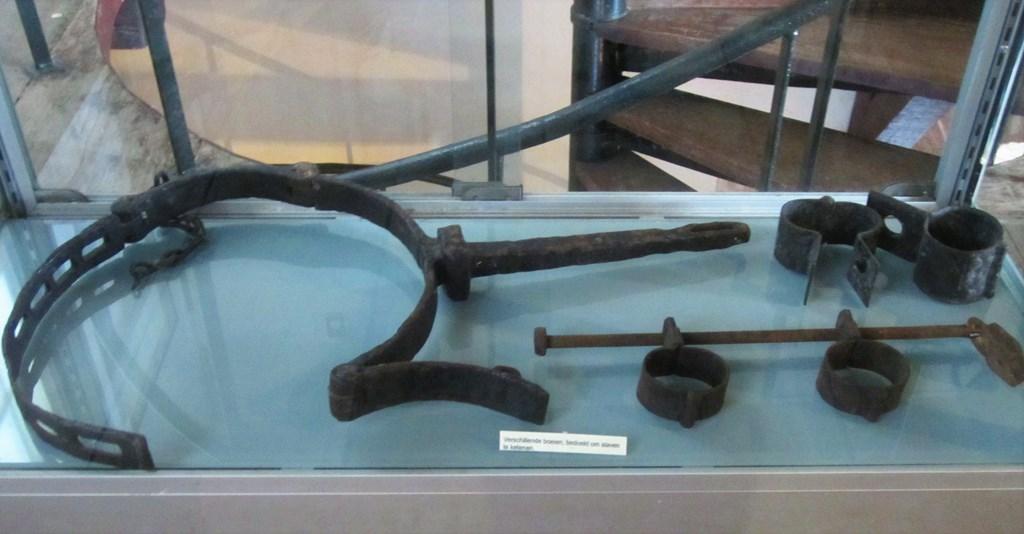 Slave Shackles,  Museum, Fort Zeelandia, Paramaribo, Suriname