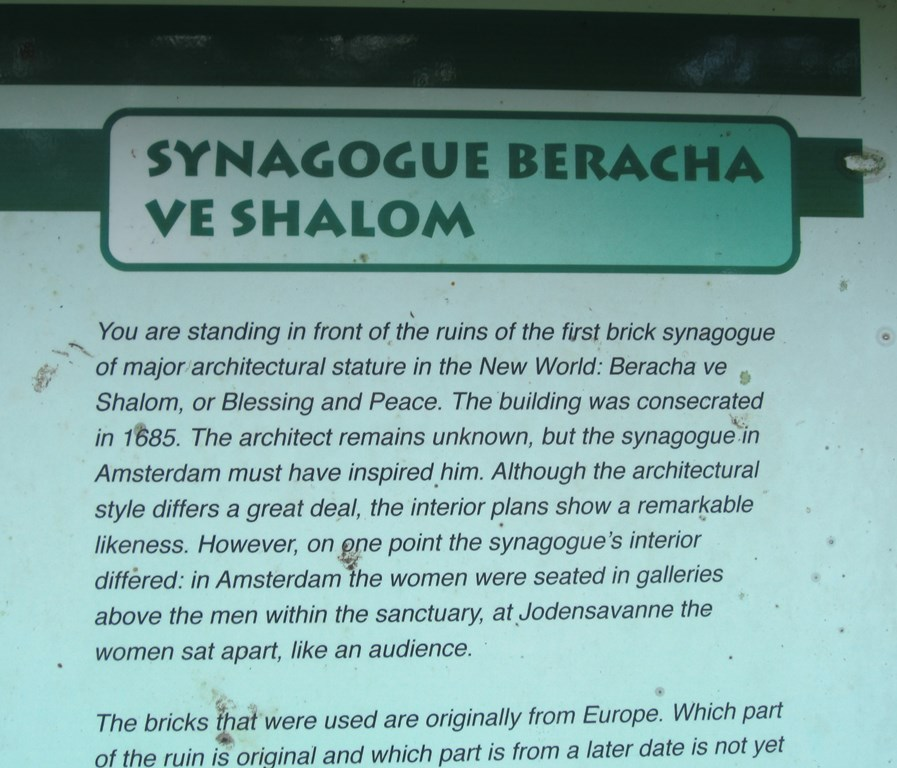 Synagogue Beracha v' Shalom, Jodensavanne, Suriname