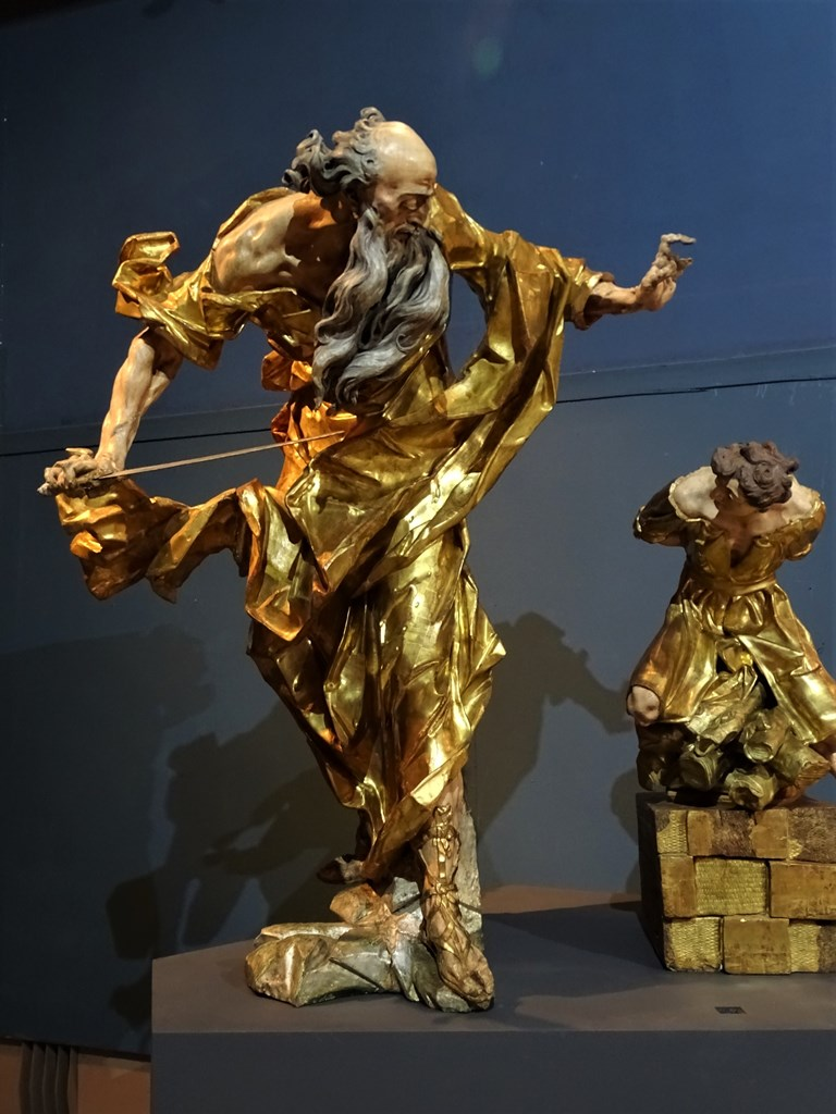 Abraham and Isaac, Johann Georg Pinzel Museum of Lviv Sacral Baroque Sculpture