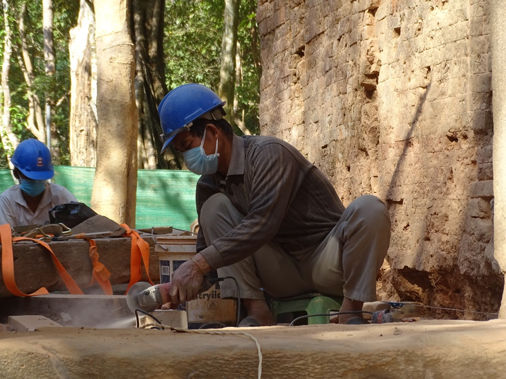 Restoration, Sambor Prei Kuk, Cambodia