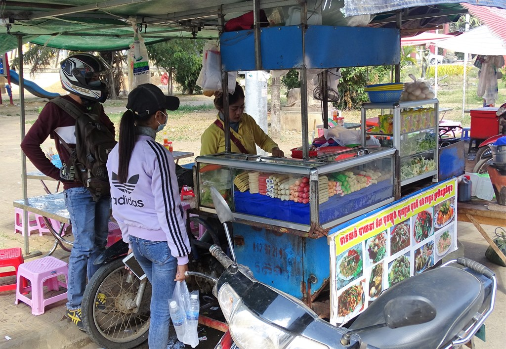 Snack Bar, Riverside, Kampong Thom, Cambodia