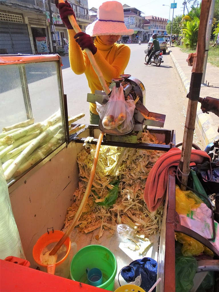 Sugar Cane Juice, Riverside, Kampong Thom, Cambodia