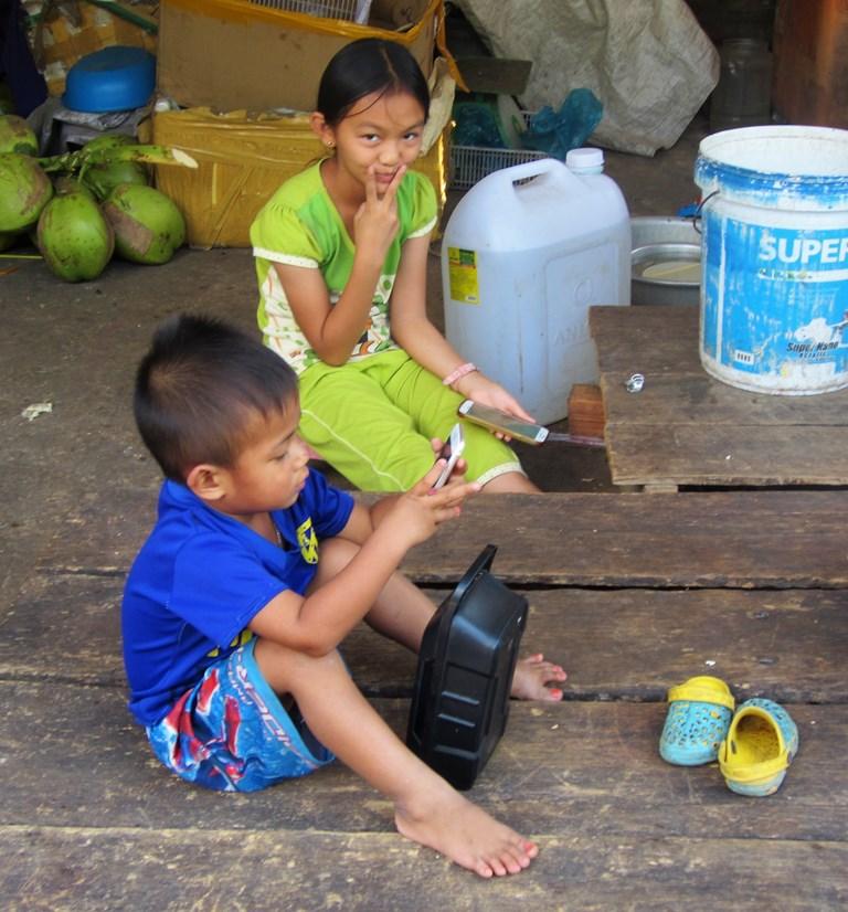 Screens, Market, Kampong Thom, Cambodia