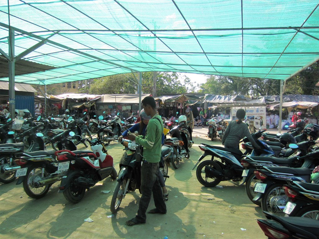Parking Lot, Market, Kampong Thom, Cambodia