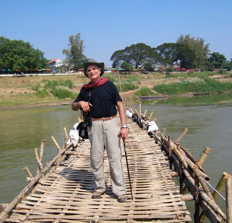 Bamboo Bridge, Kampong Cham, Cambodia
