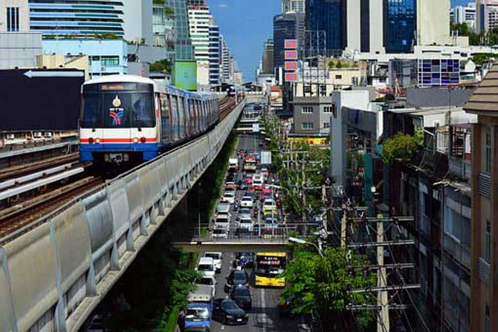 The Skytrain - BTS, Bangkok, Thailand