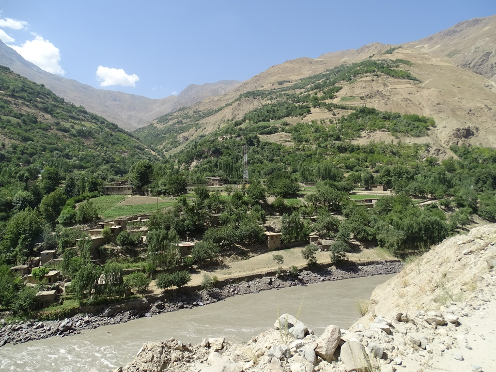 Afghan Village, Panj River, Rushan Valley, Tajikistan