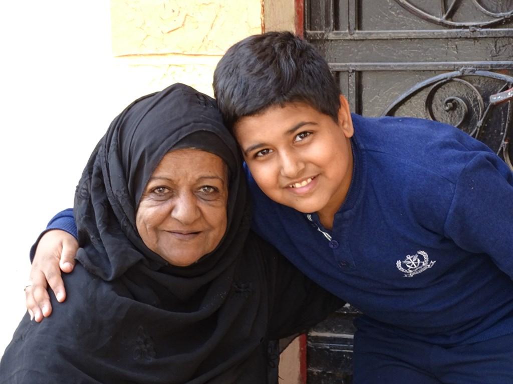Grandmother and Grandson, Gezira El Bairat, Luxor, Egypt