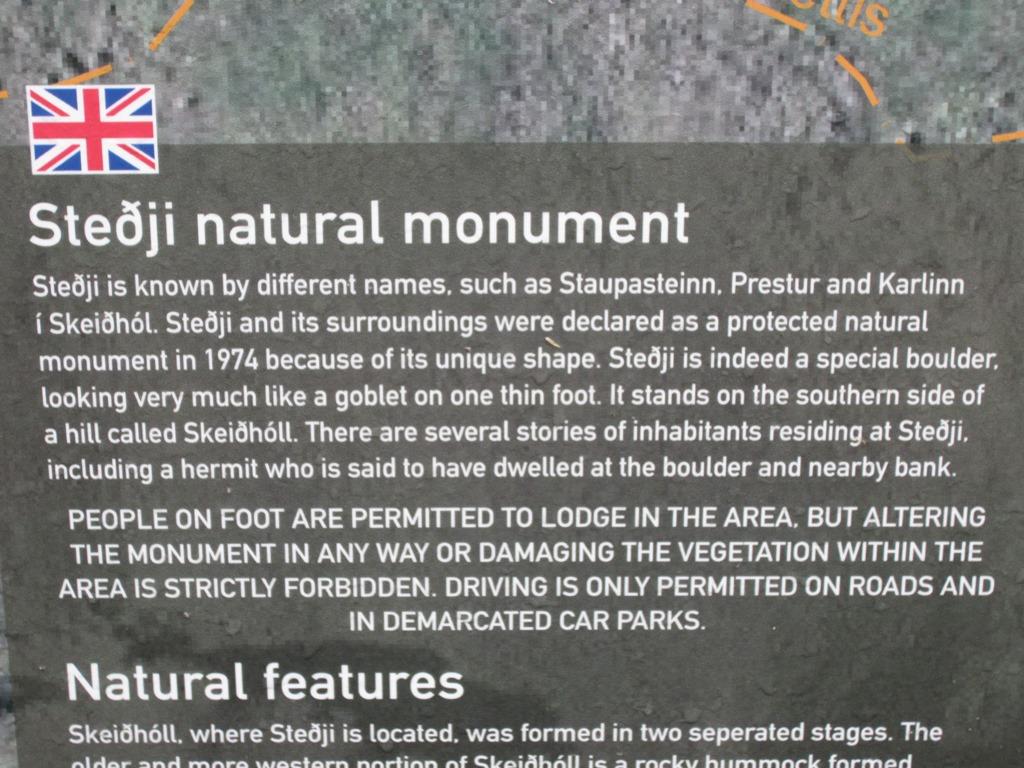 Stedji Natural Monument, Hvalfjordur, West Iceland