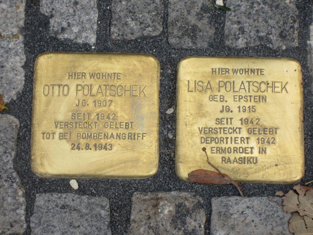 Otto and Lisa Polatschek Memorial Stolpersteine, Ulm, Germany