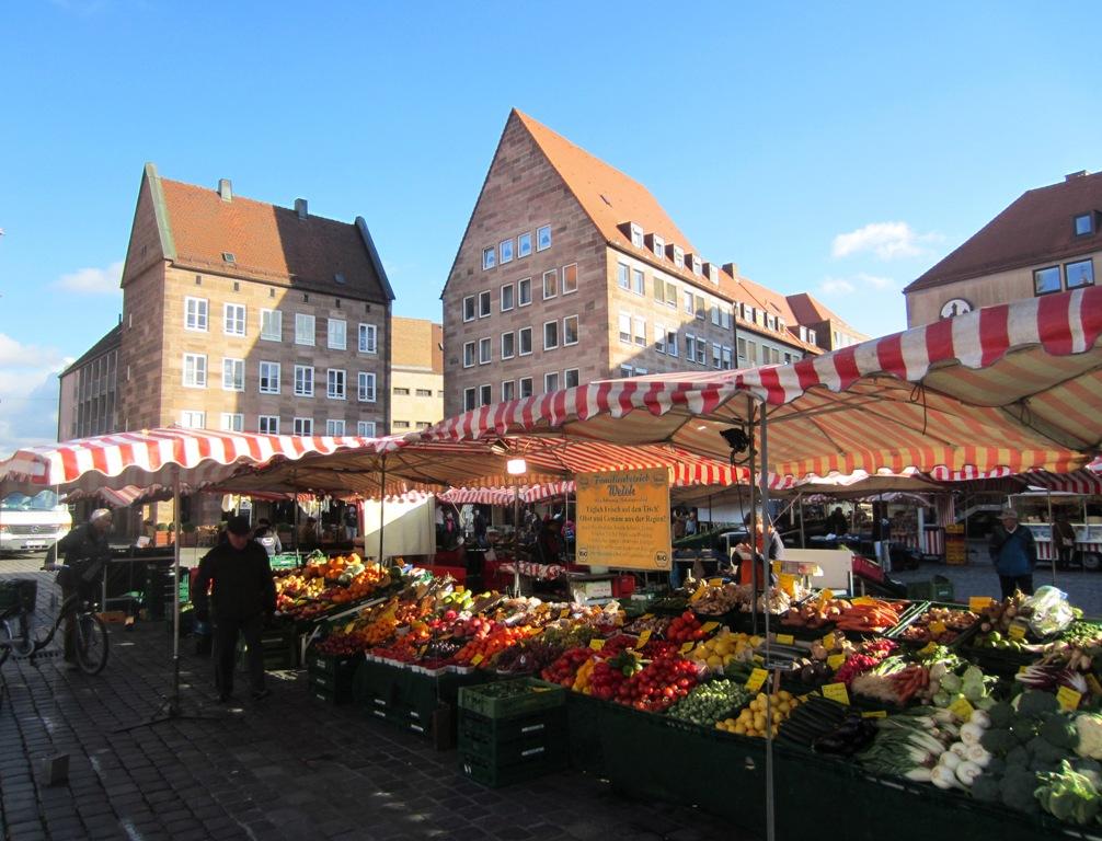 Obstmarkt, Fruit Market. Nuremberg, Germany