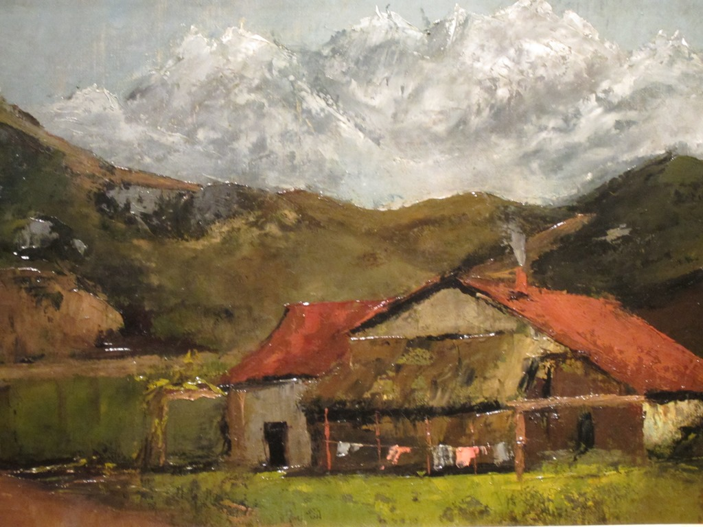 Chalet in the Mountains, Gustave Courbet