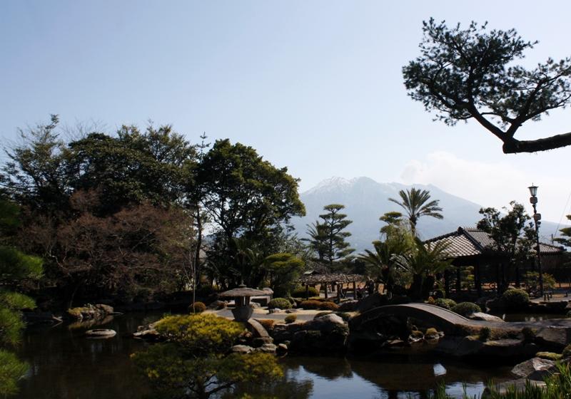 Sengan-en, villa, 仙巌園,  Iso-teien, 磯庭園, Kagoshima, Japan