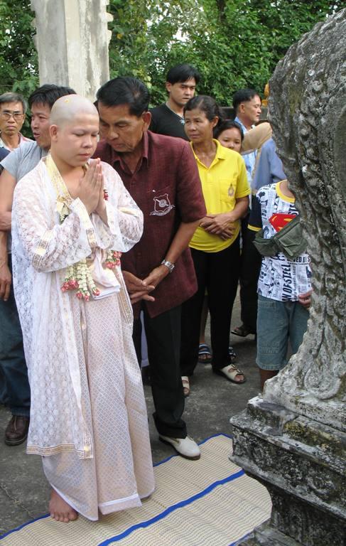 Monk Ceremony. Saraburi, Thailand