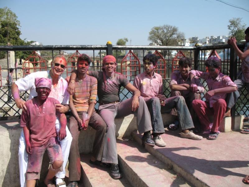 Happy Holi. Udaipur. Rajasthan, India
