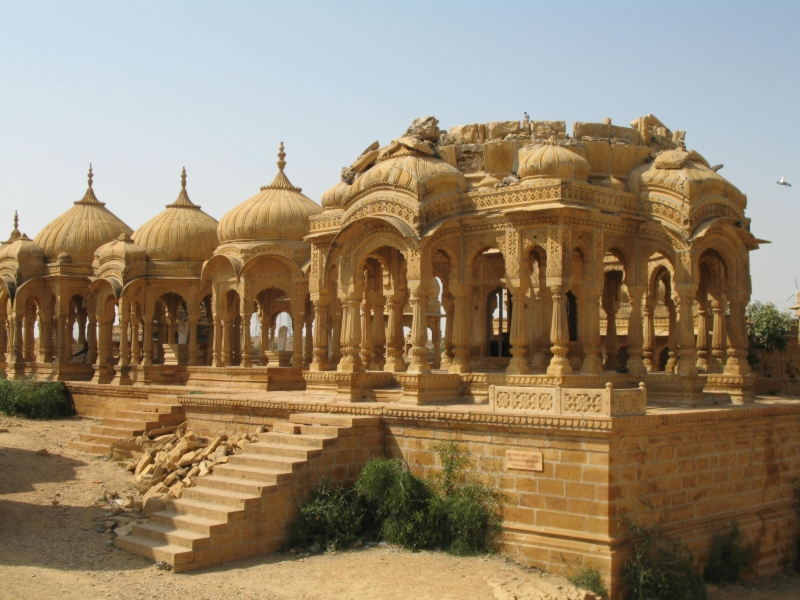 Royal Cenotaphs. Jaisalmer, Rajasthan, India