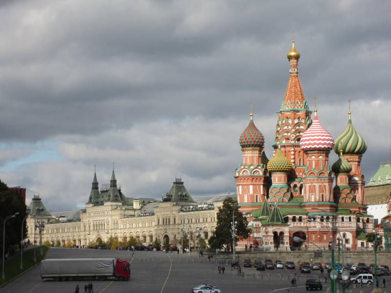 """Moscow River, Saint Basil""""s Cathedral"""