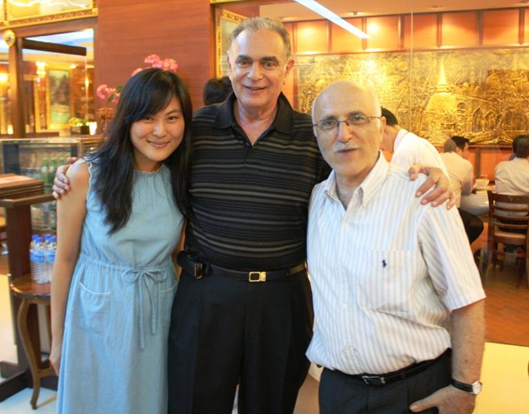 Soo, Jan, Harry, Birthday Party, Bangkok, 2010