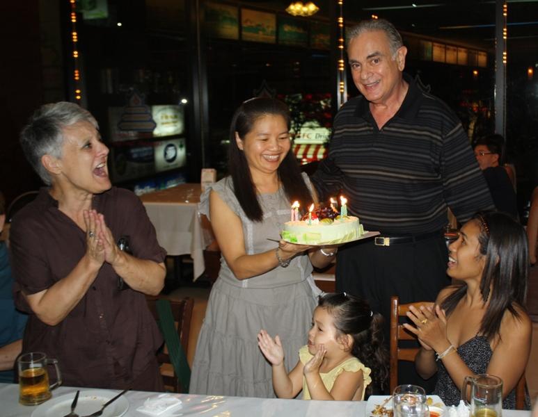 Janet, Noy, Jan, Birthday Party, Bangkok, 2010