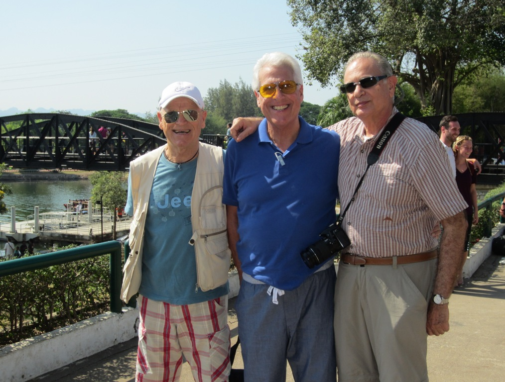 Plinio, Howard, Jan, The Bridge, Kanchanaburi