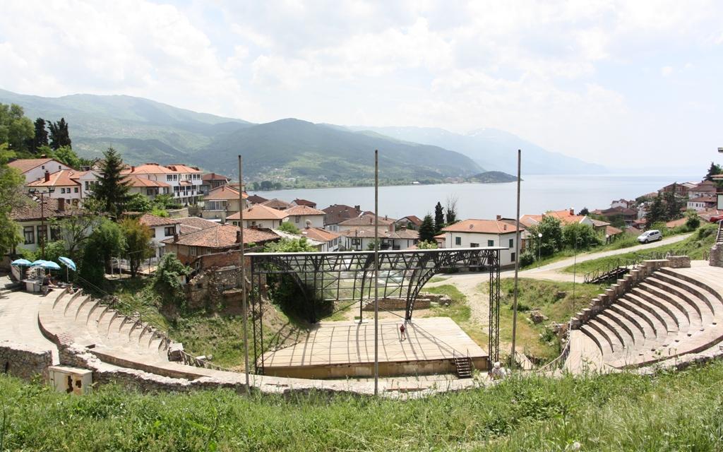 Hellenic Theater, Old Town, Lake Ohrid, Macedonia