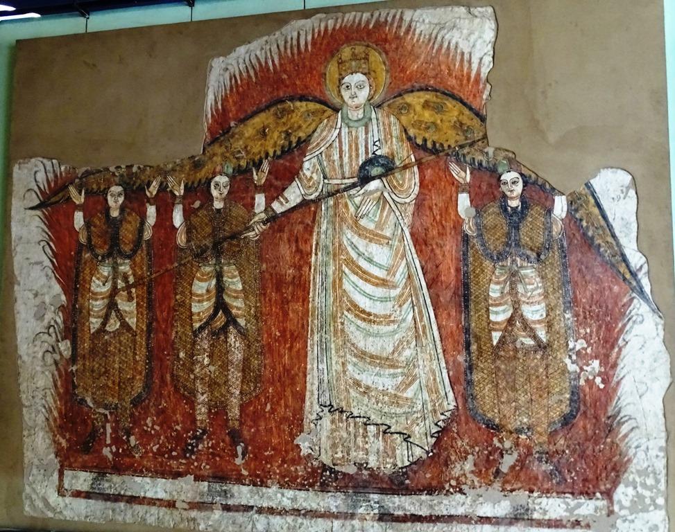 Story of Daniel, Coptic Christian Wall Painting, Sudan National Museum, Khartoum
