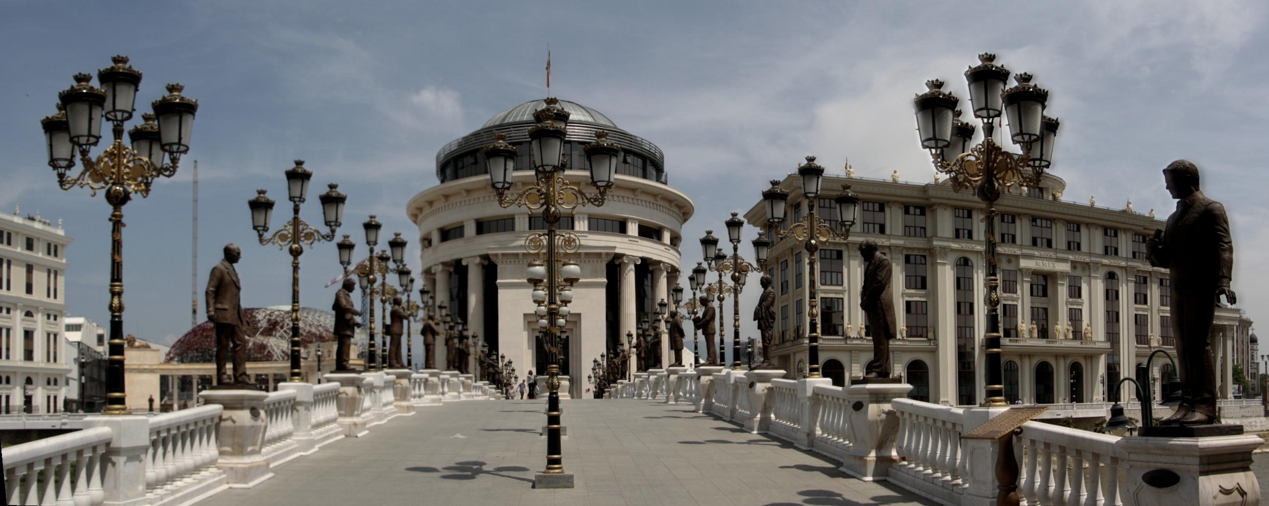The Bridge of Art, Skopje, Macedonia