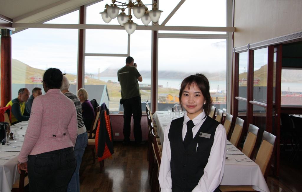 Thai hotel server, Longyearbyen, Svalbard